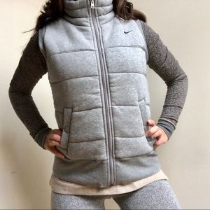 Nike Grey Warm Winter Vest Size Medium